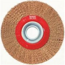 Четка с гофриран помесингован метален косъм  ф 100 мм М14х2