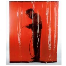 Преносима завеса без колела ЕСАБ -  тъмно червена, 2x1.4 м
