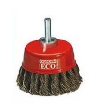 Четка за дрелка камбанка с усукан косъм ф75х6  ECO
