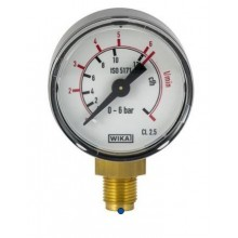 Манометър MINI за CO2/Ar, ф50, 0-6 бара - изход OxyTurbo