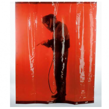 Заваръчна завеса ЕСАБ - тъмно червена, 1.8x1.4 м