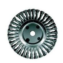Четка дискова  с усукан стоманен косъм ф115х12; M14